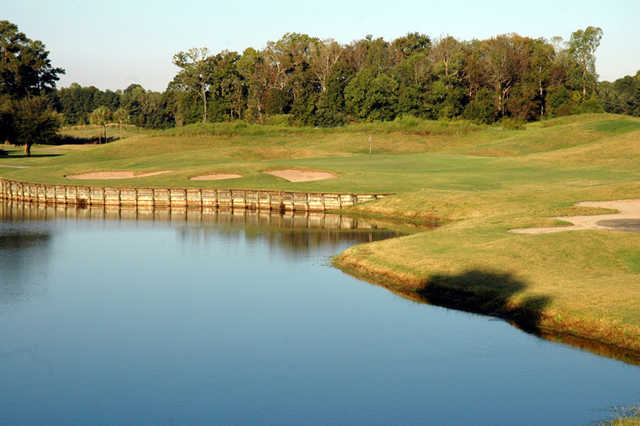 A sunny day view from Old Carolina Golf Club.