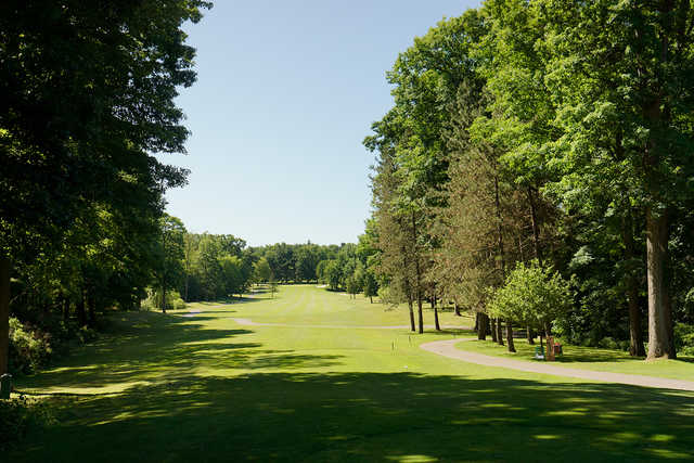 A view from tee #9 at Falcon from Pine Knob Golf Club.