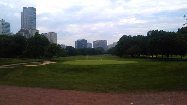 A view of green #9 at Sydney R. Marovitz Golf Course.