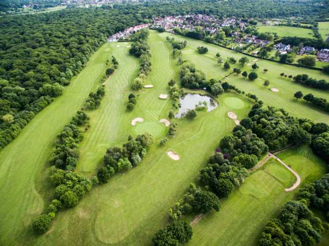 Aerial view of the back nine at West Essex Golf Club