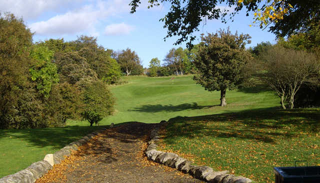 View of the 1st hole at Cochrane Castle Golf Club