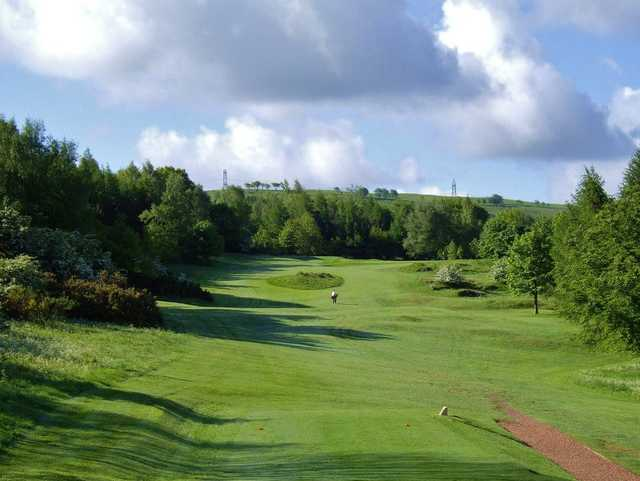 View of the 2nd hole at Cochrane Castle Golf Club