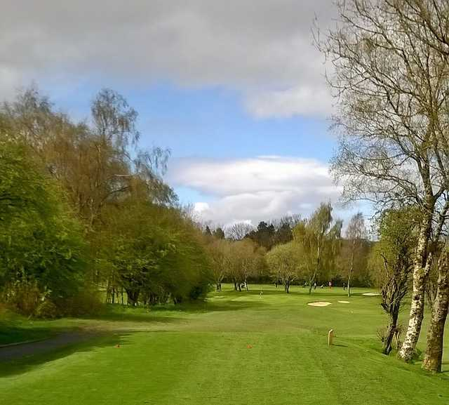 View of the 14th hole at Cochrane Castle Golf Club