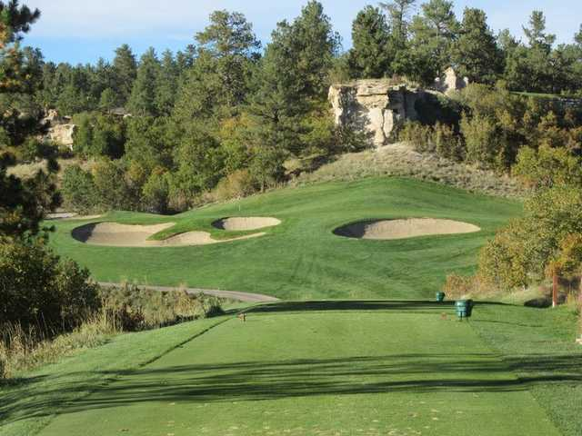 A view from the 17th tee from The Ridge at Castle Pines North.