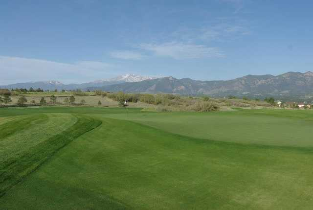 A view of hole #1 at The Club at Flying Horse.