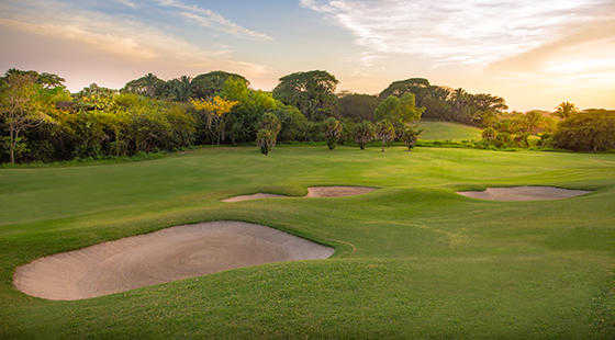 A view of fairway #10 at The Nicklaus Course from Vista Vallarta Golf Club.