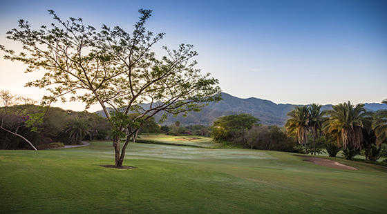 A view of the 1st hole at The Nicklaus Course from Vista Vallarta Golf Club.