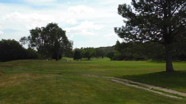 A view of the 14th fairway at The Hideout Golf Club.