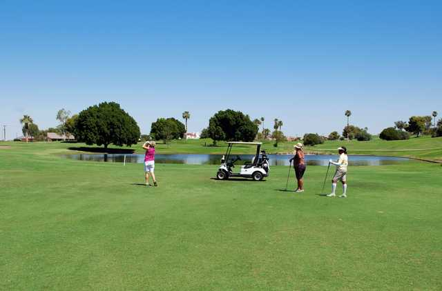 A sunny day view from Desert Hills Golf Course.