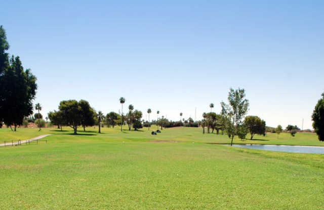 A summer day view from Desert Hills Golf Course.