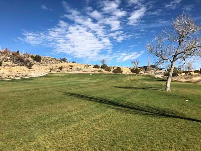 A view of a fairway at Fox Run Golf Course.