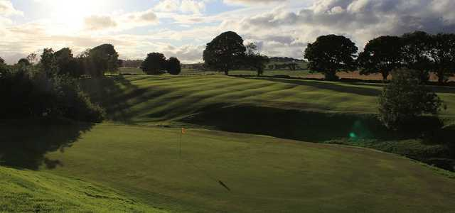 View from the 3rd green to the 1st green at Uphall Golf Club