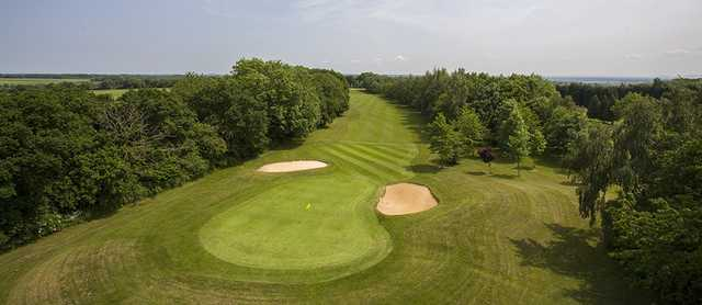 Aerial view from The West Berkshire Golf Club