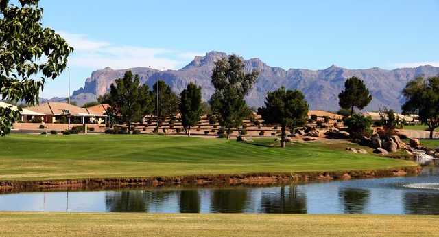 A view of a green at Sunland Springs Village.