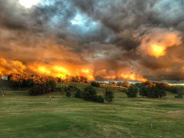 A sunset view from Andrew Johnson Golf Club.