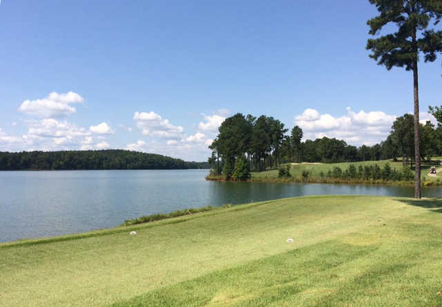 A view from tee #16 from Arrowhead Pointe At Lake Richard B. Russell.