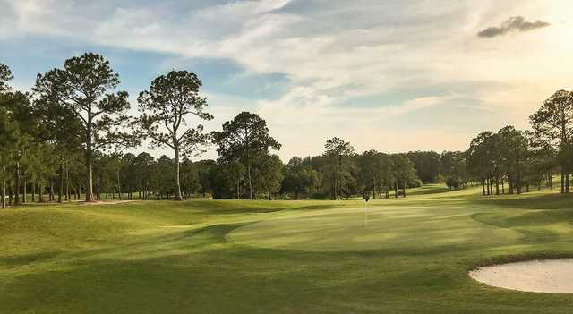 A view of a green at Seminole Legacy Golf Club.