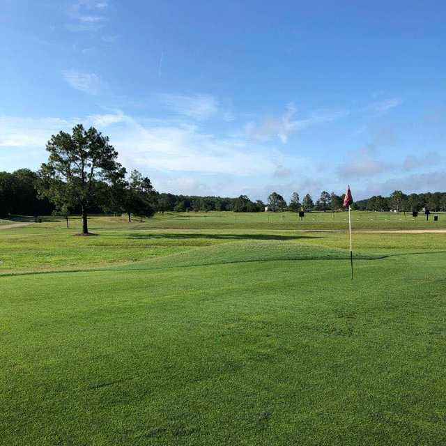 A view of a green at St. Johns Golf Club.
