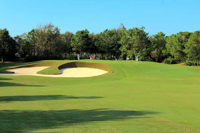 A view of a green at Regatta Bay Golf & Yacht Club.