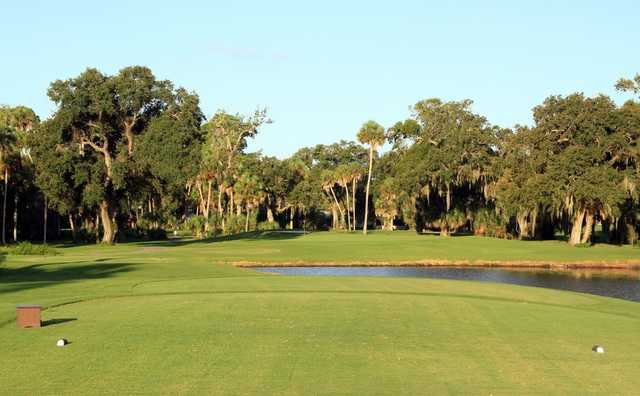 A view from a tee at North from Daytona Beach Golf & Country Club.