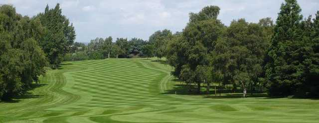 View of a fairway and green at Aspley Guise & Woburn Sands Golf Club