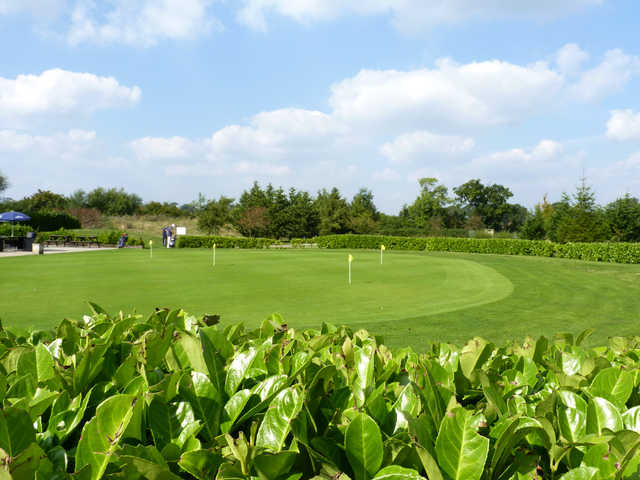 View of the putting green at Aylesbury Vale Golf Club