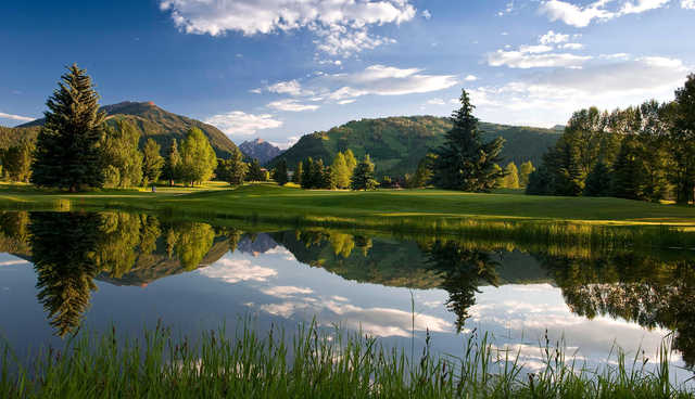 A view over the water from Aspen Golf Course.