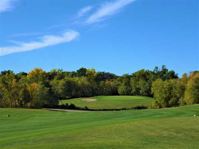 View of the 18th hole at Bridges Golf Course
