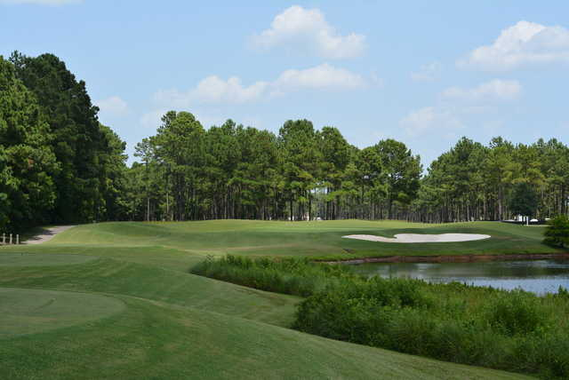 A view of hole #6 at Crow Creek Golf Club.