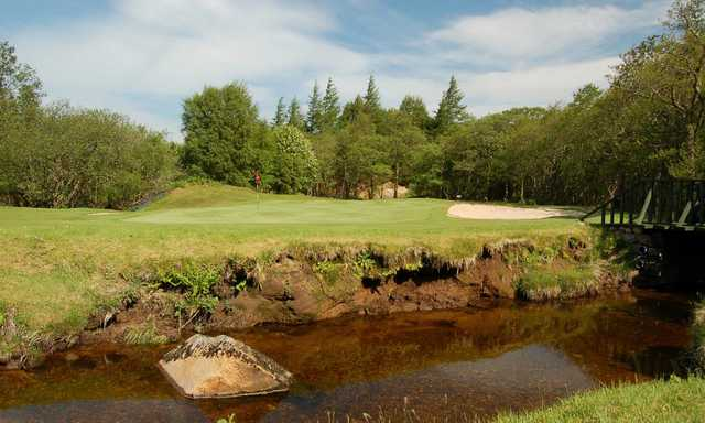 View of the 6th green at Fort William Golf Club