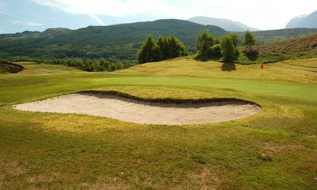 View of a green at Fort William Golf Club