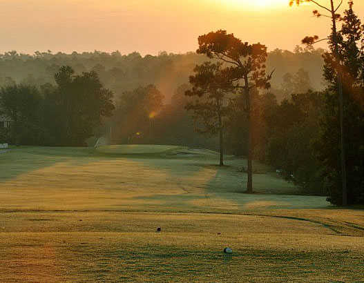 A sunset view from a tee at Scenic Hills Country Club.