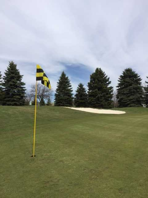 A view of the 7th green at Maples Golf Club.