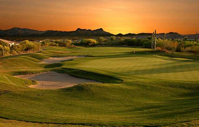 A view of the 9th hole from Highlands at Dove Mountain.