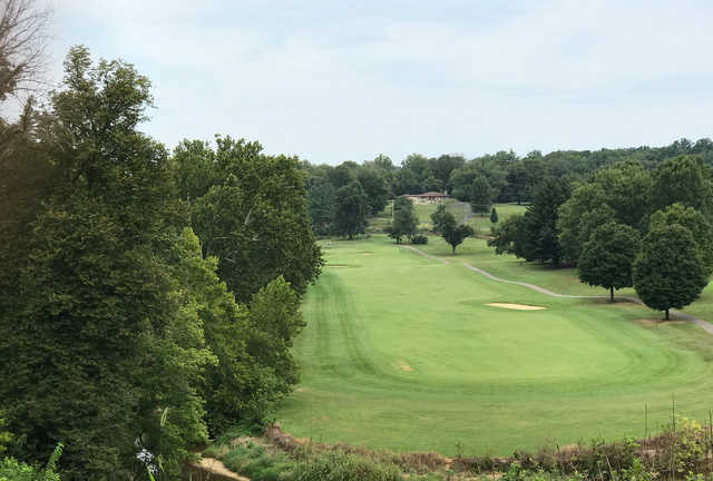 A view of fairway #17 at Otis Park Golf Course.