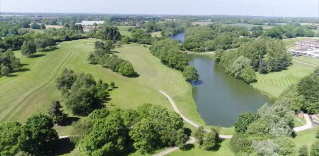 Aerial view of the Constable Course at Stoke by Nayland Golf Club