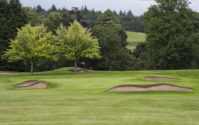 View of the 10th green at Tulliallan Golf Club