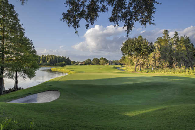 Looking back from the 10th green at TPC Tampa Bay.