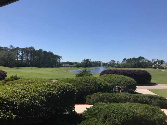 A sunny day view from Jacksonville Golf & Country Club.