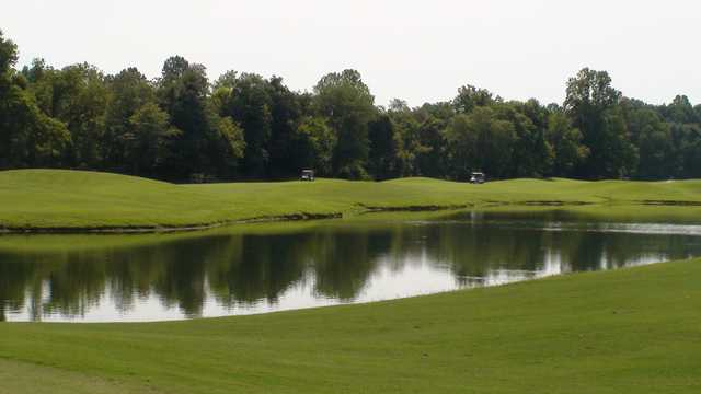 A view over the water from Larkin Golf Club.