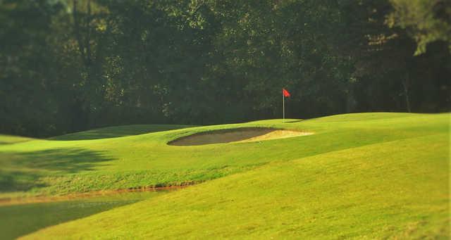 A view of a hole at Larkin Golf Club.
