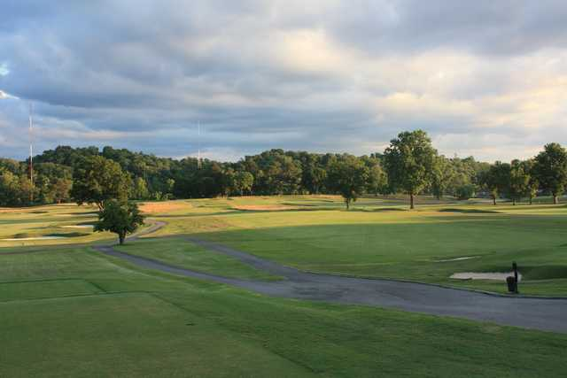 A sunny day view from a tee at Holston Hills Country Club.