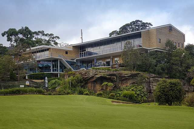 View of the clubhouse at Castlecove Country Club