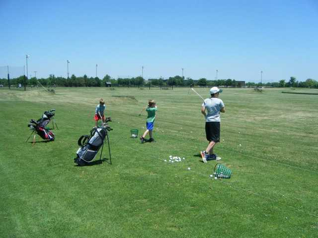 A view of the driving range at Wee Links Course from The Golf Center at SportsOhio.