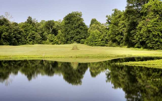 A view of hole #15 from River at Hampton Cove Golf Course.