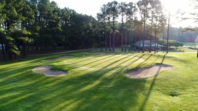 View of the finishing hole from the Eighteen Hole at Hog Neck Golf Course