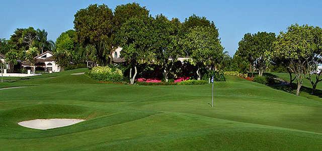 A view of a green at Deer Creek Golf Club.
