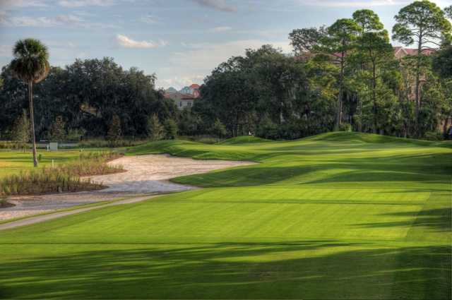 A view from tee #2 at Palm Harbor Golf Club.