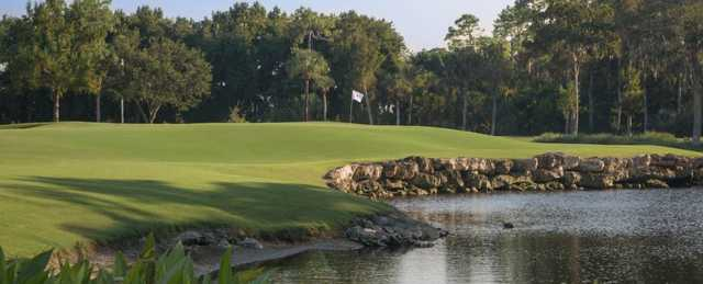 A view of a green at Royal Poinciana Golf Club.