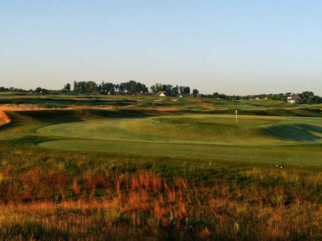 A view of a green at Hickory Stick Golf Club.